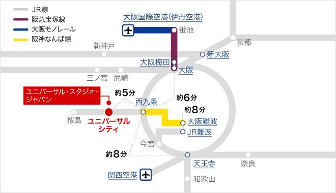 周辺路線図