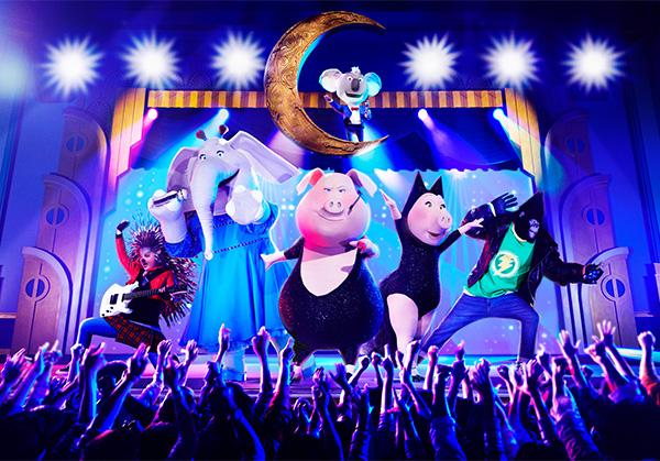 USJのリアルなシアター・ライブ・ショーとして、アトラクション「シング・オン・ツアー」