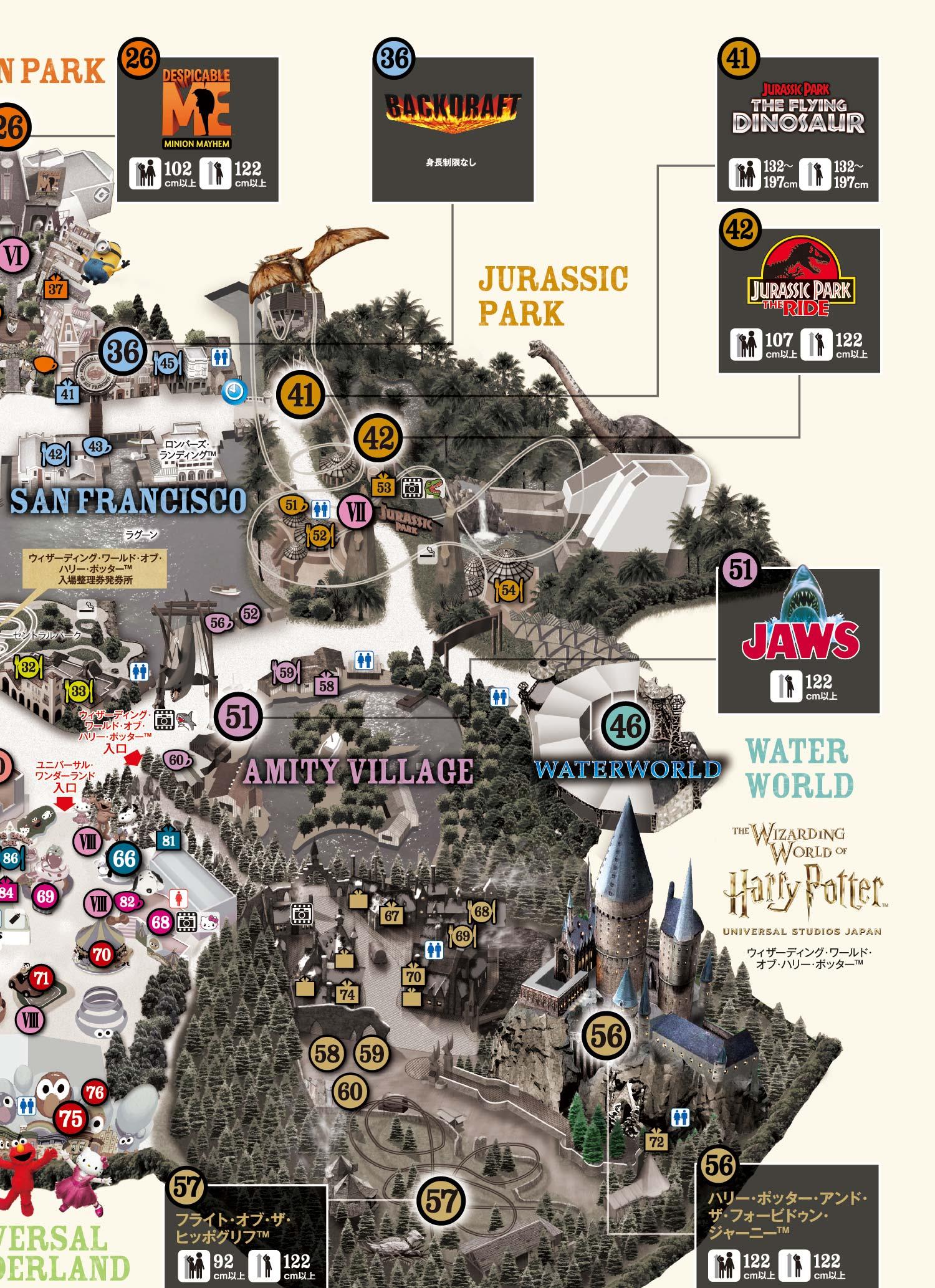 Studio Map universal Studios Japan Usj