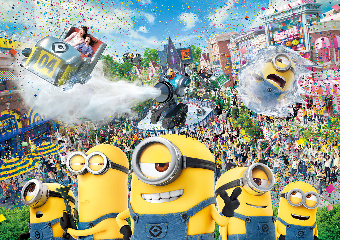 MinionPark Immerse yourself in the mayhem of the Minions at the world's largest Minions area, now open at Universal Studios Japan!