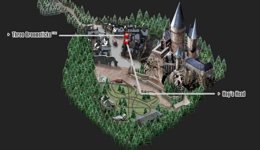 The wizarding world of harry potterdininguniversal studios map the wizarding world of harry potter gumiabroncs Images