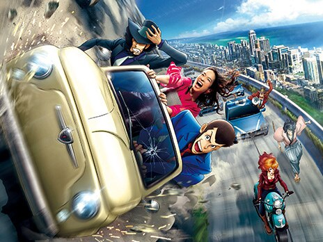 Lupin the Third: Car Chase XR Ride