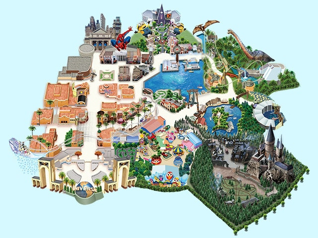 Universal Studios Japan Map Restaurants | Universal Studios Japan | USJ